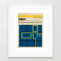 tron Framed Art Prints featuring Tron by Tommaso Valsecchi