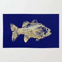 goldfish Area & Throw Rugs featuring goldfish by EnglishRose23