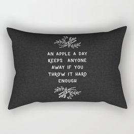 An Apple A Day BW Rectangular Pillow