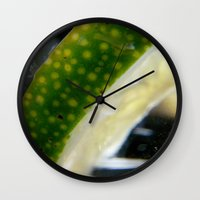 lime Wall Clocks featuring Lime! by creations by Cinnamon