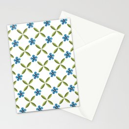 Clematis pattern Stationery Cards