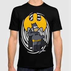 bat-homer: the Simpsons superheroes MEDIUM Mens Fitted Tee Black