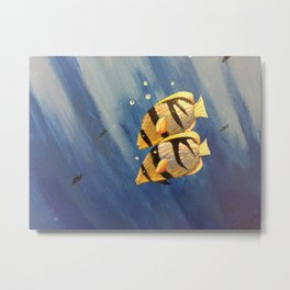 Yellow fish Metal Print