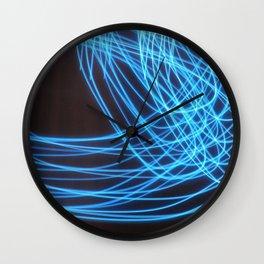 Blue Streak Wall Clock
