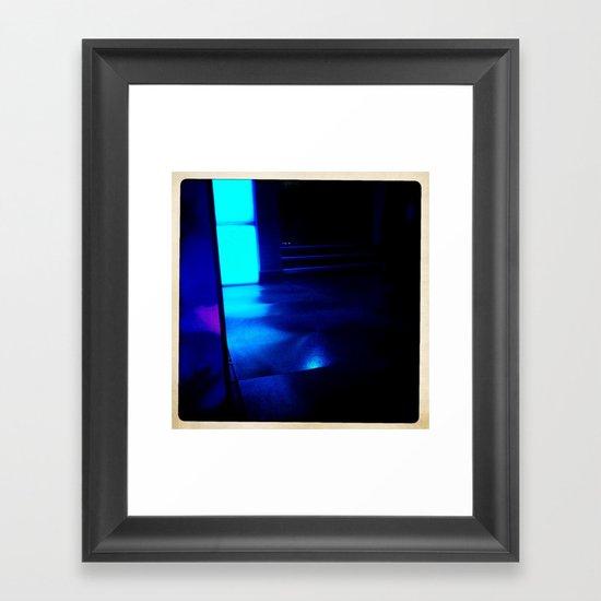 Blue Ship Framed Art Print