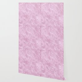 Powder Pink Silk Moire Pattern Wallpaper