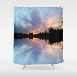 Sunset Brushstrokes Shower Curtain