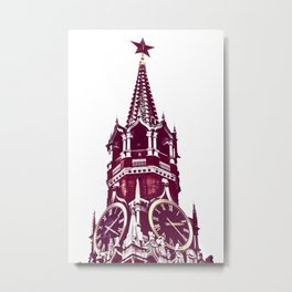 Kremlin Chimes-red Metal Print
