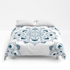 Mandala in Indian Ink 2 Comforters