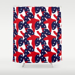 Patriotic Pattern | United States Of America USA Shower Curtain