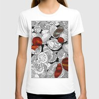 shells T-shirts featuring Shells by EmilyGrantDesign