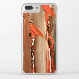 Caned red Clear iPhone Case