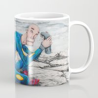 spaceman Mugs featuring Spaceman by Neal Julian