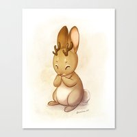 jackalope Canvas Prints featuring Jackalope by Chelsea Kenna