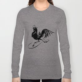 Mouse Riding Rooster Long Sleeve T-shirt