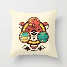 Pocket Monster Trainer Throw Pillow