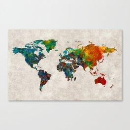 World Map 61 Canvas Print