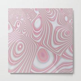 Rose Quartz Candy Cane Swirl Metal Print
