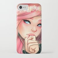 cyarin iPhone & iPod Cases featuring Pink and Flowers by Cyarin