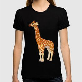 Cute giraffe. Vector graphic character T-shirt
