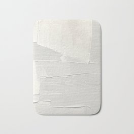 Relief [1]: an abstract, textured piece in white by Alyssa Hamilton Art Bath Mat