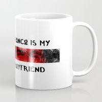 boyfriend Mugs featuring Franco is my boyfriend by Dr.Söd