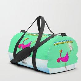 Flamingos on ice Duffle Bag