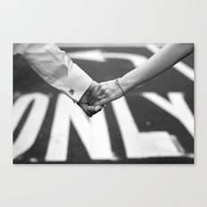 Hand In Hand | Love | Engagement Canvas Print
