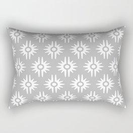 Mid Century Modern Bang Pattern 271 Grey Rectangular Pillow