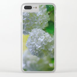 White Viburnum Flowers Branch Close Up Spring Clear iPhone Case