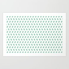 rhombus bomb in grayed jade Art Print