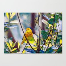 Sweet Yellow Warbler Canvas Print