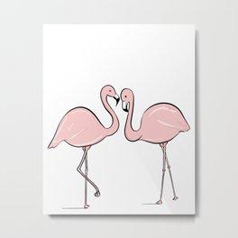 Flamingo Lovers Metal Print