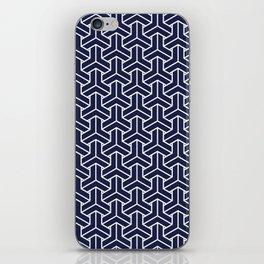 Japanese Yukata Jinbei Bishamon Navy pattern iPhone Skin