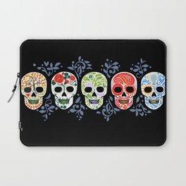 Sugar Skulls_Celebracion del Color line_Calaveras_RobinPickens Laptop Sleeve