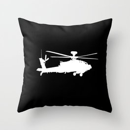 AH-64 Apache Helicopter Throw Pillow