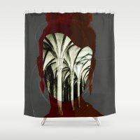 1d Shower Curtains featuring Die Kirchenmaus 1d by Marko Köppe