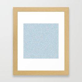 Blue plastering textures Framed Art Print
