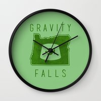 fez Wall Clocks featuring Gravity Falls - Grunkle Stan's Fez (Green) by pondlifeforme