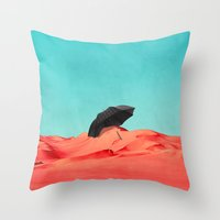 oasis Throw Pillows featuring Oasis by SUBLIMENATION