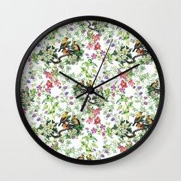 Green Nature watercolor Wall Clock