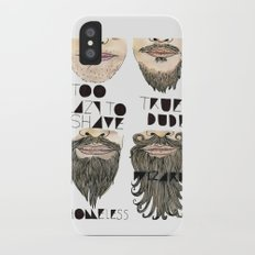 the beard chart of dudeliness iPhone X Slim Case
