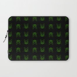 Cute cats pattern in pink pencil on white Laptop Sleeve