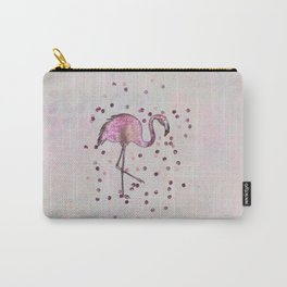 Glamorous Flamingo pink and rose gold sparkle Carry-All Pouch
