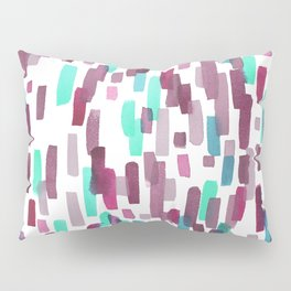 Burgundy and Teal Abstract Watercolor Pillow Sham
