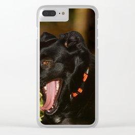 Quod nigrum Diva Clear iPhone Case