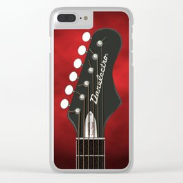 DANELECTRO HEADSTOCK ART Clear iPhone Case