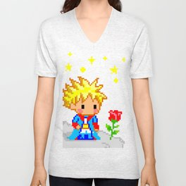 The Little Prince and the rose Unisex V-Neck