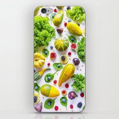 Fruits and vegetables pattern iPhone & iPod Skin