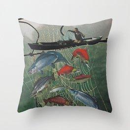 Salmon Trap Throw Pillow